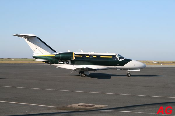 Le Cessna Citation Mustang F-HKIL.