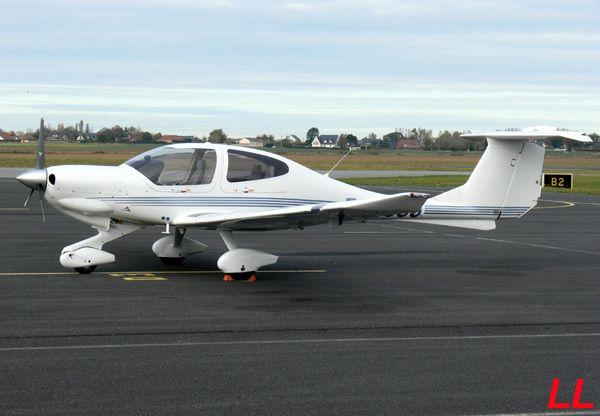 Vu le mois dernier le Diamond DA-40 F-GSSJ.