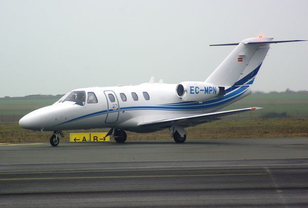 Le Cessna Citation CJ1 EC-MPN.