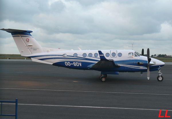Retour aux civils avec le Beech King Air 350 OO-SDV.