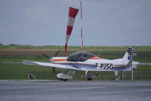 Le Zenair lors de son vol durant cette journée mémorable.