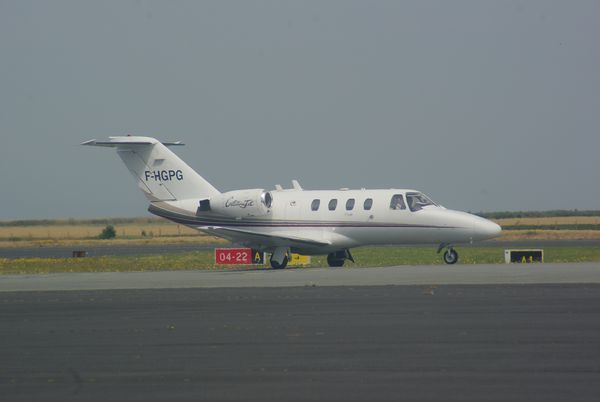 Le Cessna Citation CJ1 F-HGPG.