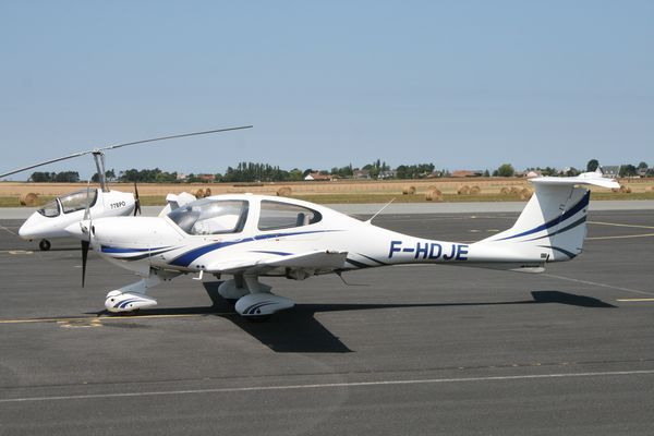Le Diamond DA-40 F-HDJE. (Photo AG)