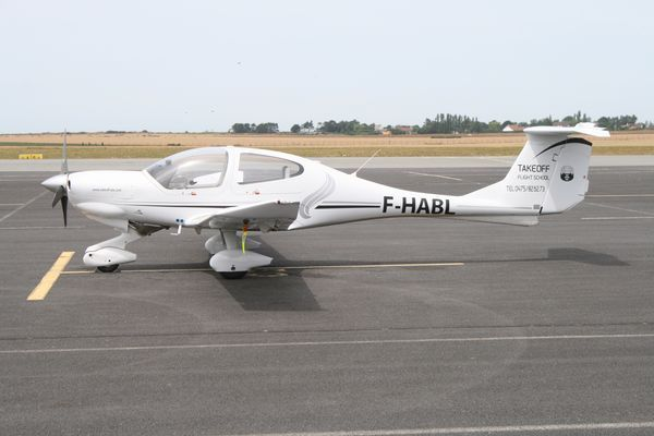 Le Diamond DA-40 F-HABL. (Photo AG)