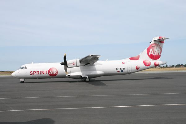 L'ATR 72 SP-SPD de la compagnie polonaise Sprint'air. (Photo: AG)