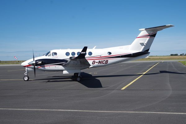 Le Beech King Air 250 G-NICB.