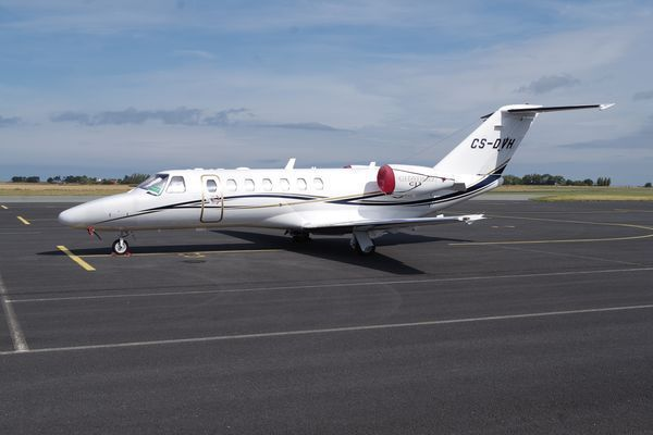 Le Cessna Citation CJ3 CS-DVH.