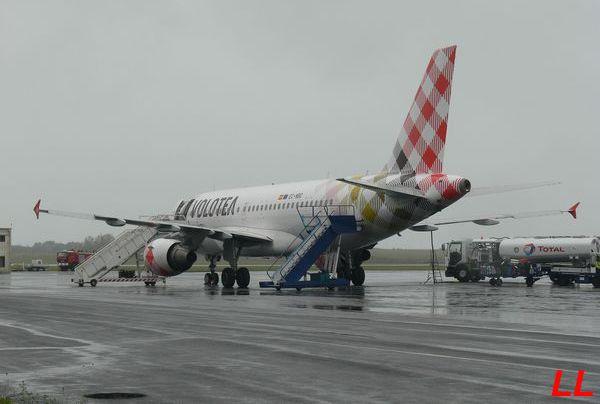 Le Airbus A-319 EC-NBC de la compagnie espagnole Volotea.