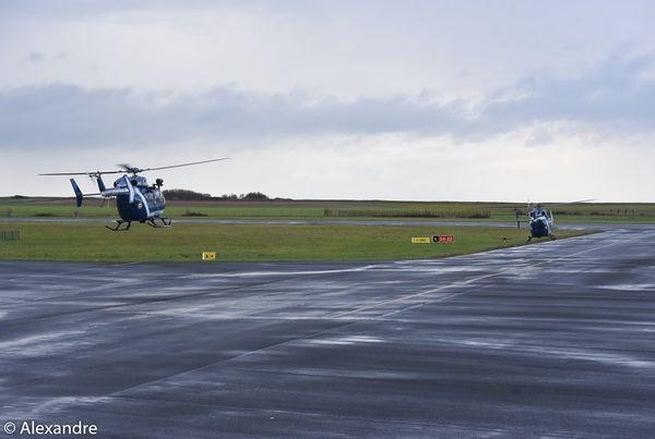 ...La surprise! Durant ce mois, il y a eu un exercice de la Gendarmerie avec pas moins de trois hélicoptères.