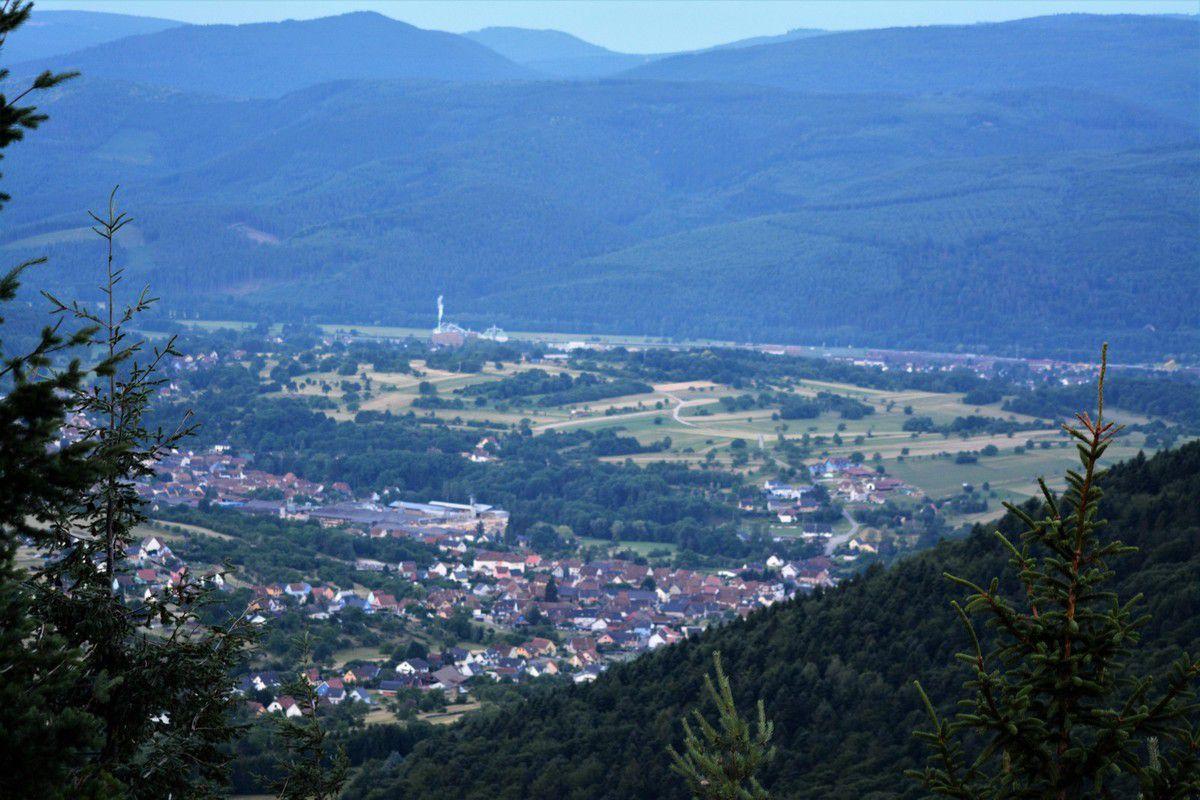 Une vue sur la vallée de la Bruche...