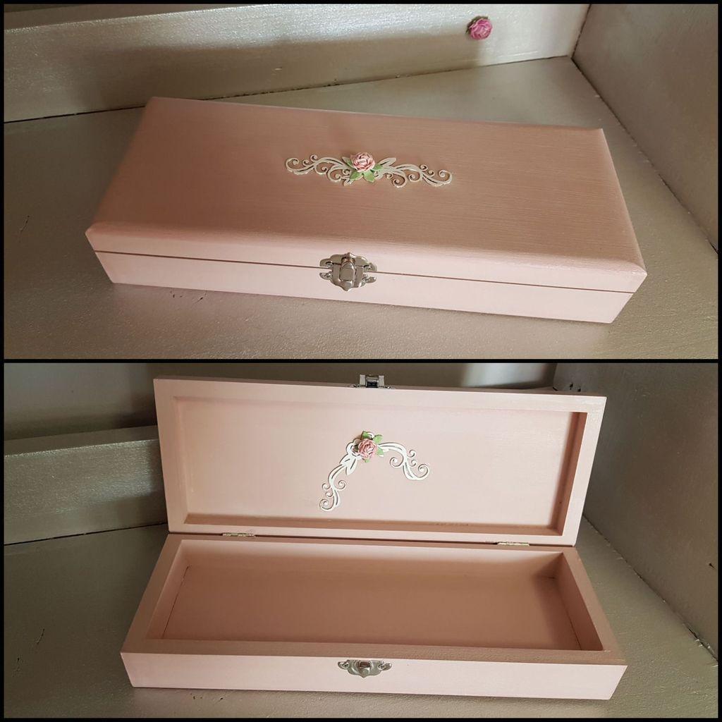 Petites boites décorées avant et après