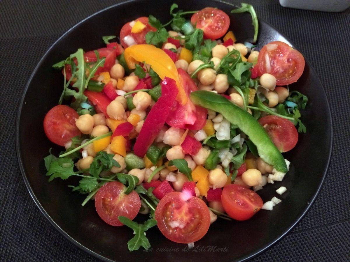 Salade de pois chiches aux goûts du sud