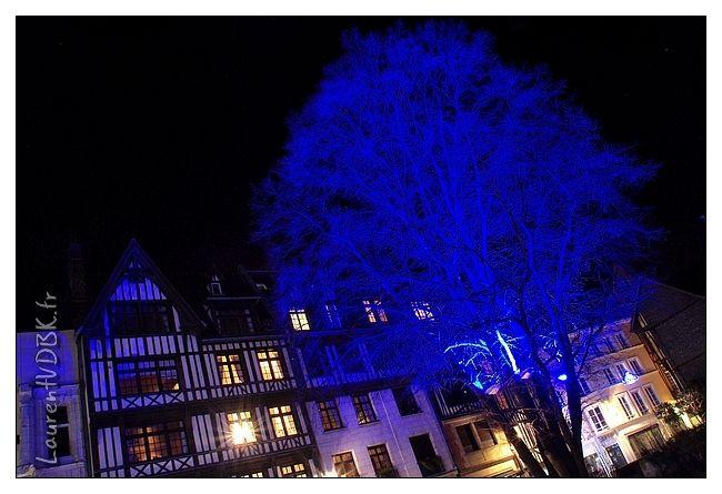 ( Arbre de nuit illuminé noël rue saint Romain à Rouen )