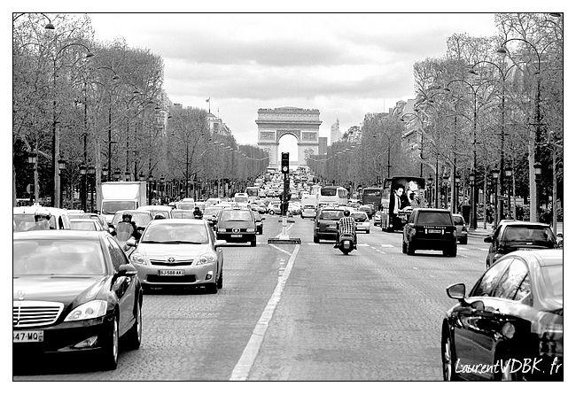 Paris Champs Elysées Noir & Blanc