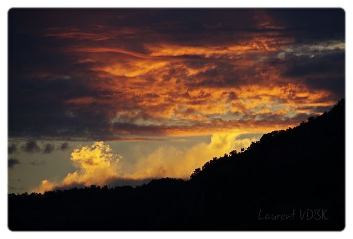 Ciel de feu sur le Vercors