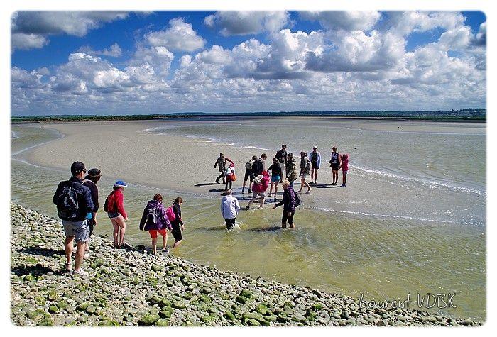 De l'eau à mi-genoux en traverssant la Baie de Somme