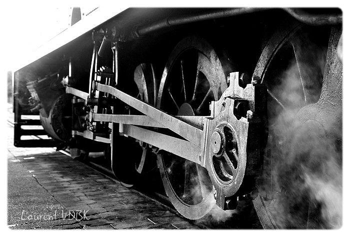 Roues locomotive à vapeur