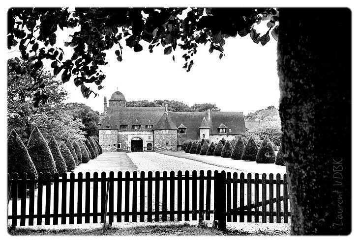 Manoir d'Ango - Varengeville-sur-Mer (noir et blanc)