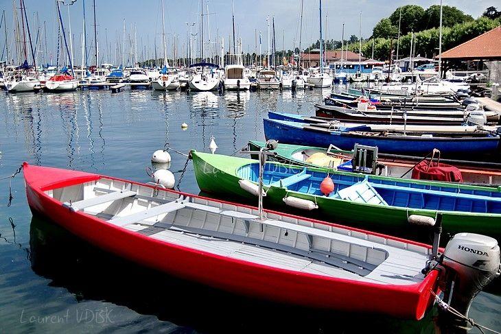 Bateaux colorées - Port des pêcheurs - Thonon-les-Bains