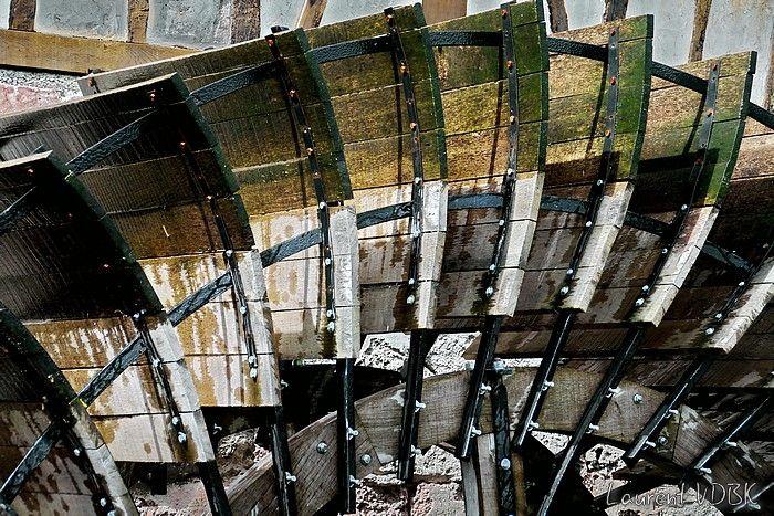 Détails des pales du moulin de la Pannevert