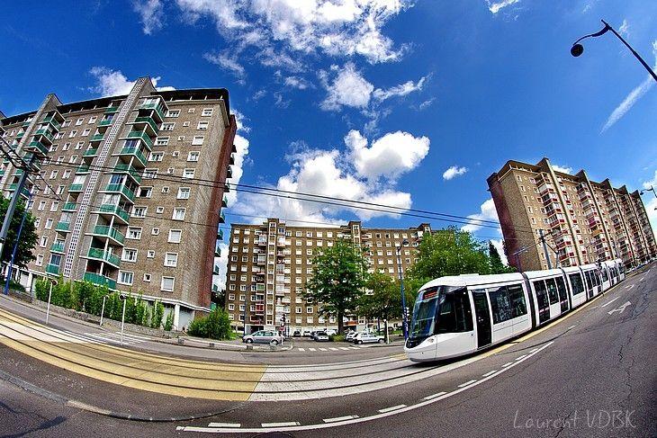 Métro rue Garibaldi - Espace Marcel Lods (Zone Verte) au Fish-Eye