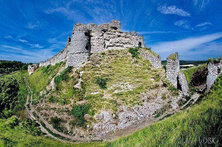Le château d'Arques-la-Bataille en panoramique