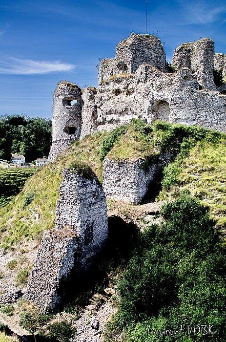 Les ruines du château d'Arques-la-Bataille