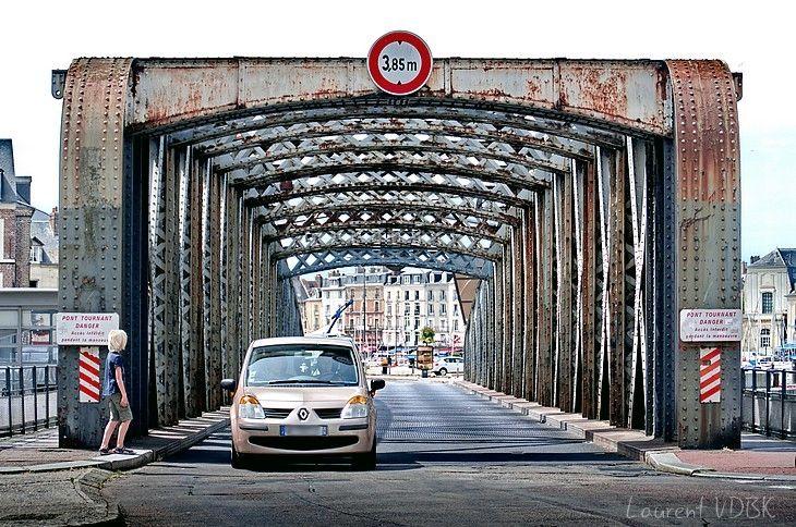 Le pont Colbert, sur le port de Dieppe