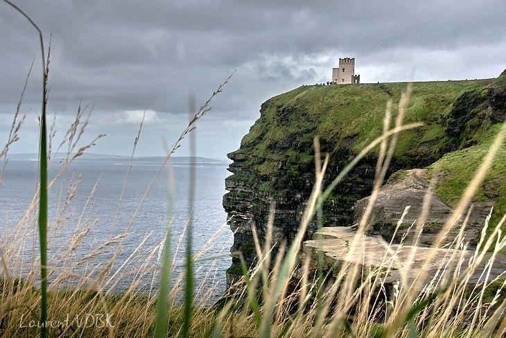 Les falaises de Moher - Irlande (Cliffs of Moher - Burren - Ireland) et la tour O'Brien (O'Brien tower)