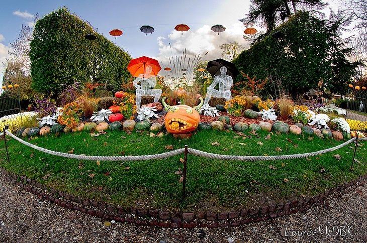 Jardin des plantes Rouen - Mythes et légendes - Scène sur le thème Automne-Halloween-Toussaint