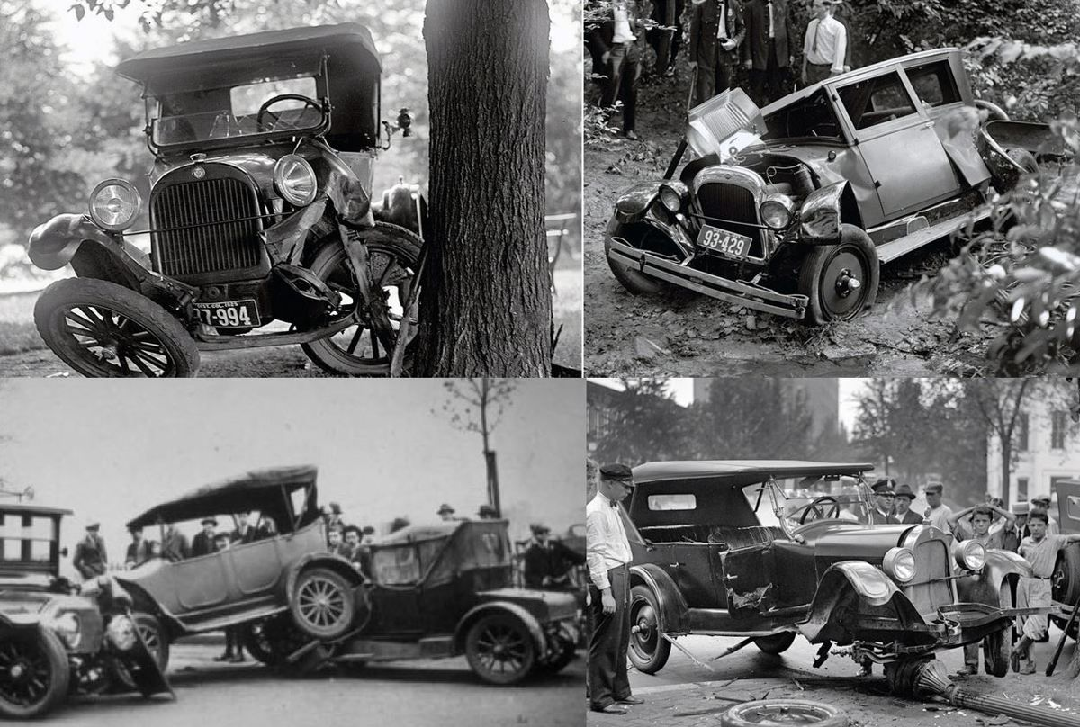 Figure 6. Recompilation accidents images Ford T (Source: Noticiascoches.com)