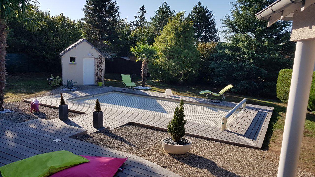 terrasse bois posée à Fondettes