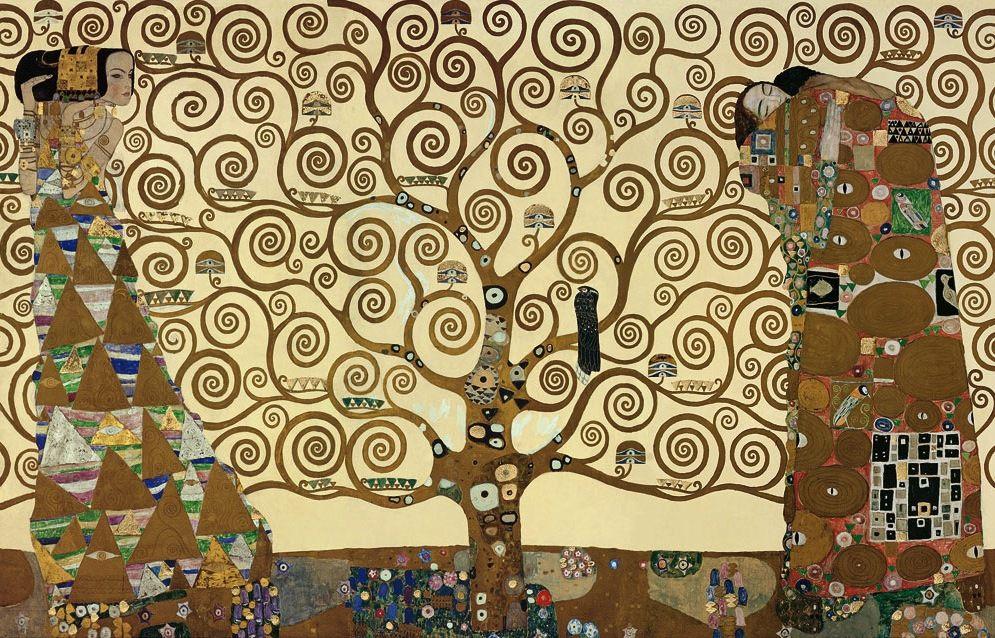 Klimt, l'arbre de vie. Sur ses branches s'écrivent les fruits de nos amis.