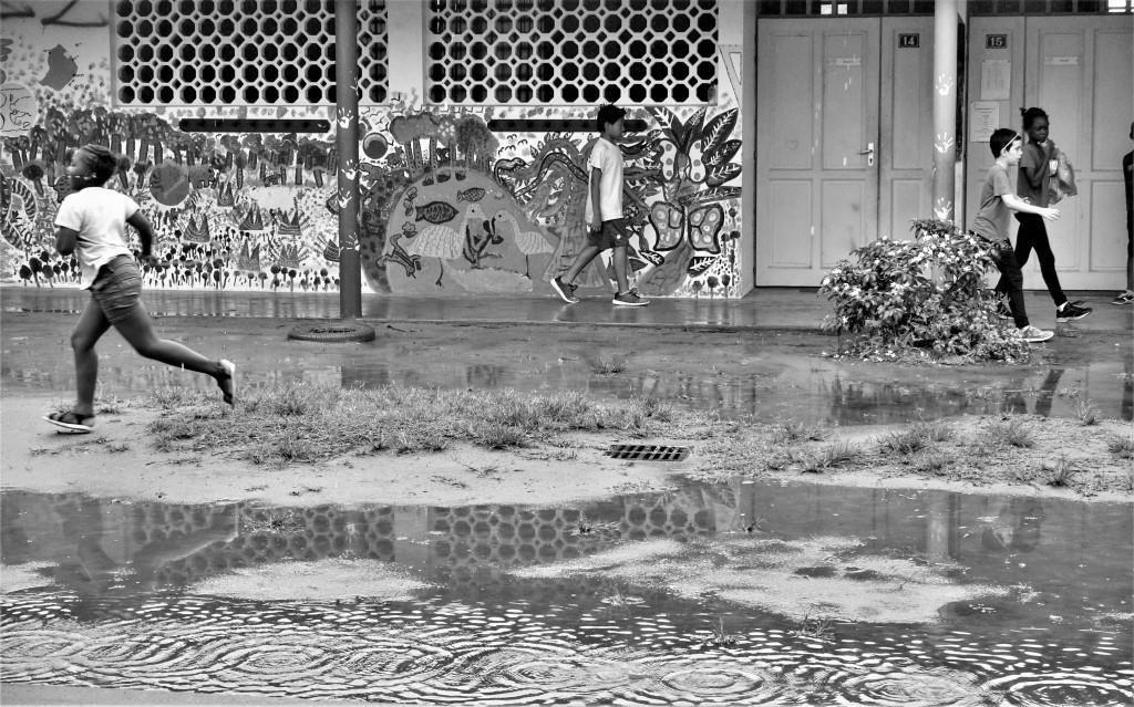 Voila qu'ici s'aime la pluie