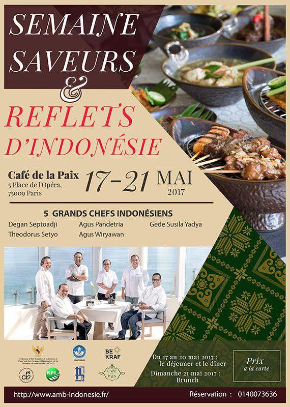 Saveurs & Reflets D'Indonésie du 17 au 21 mai 2017