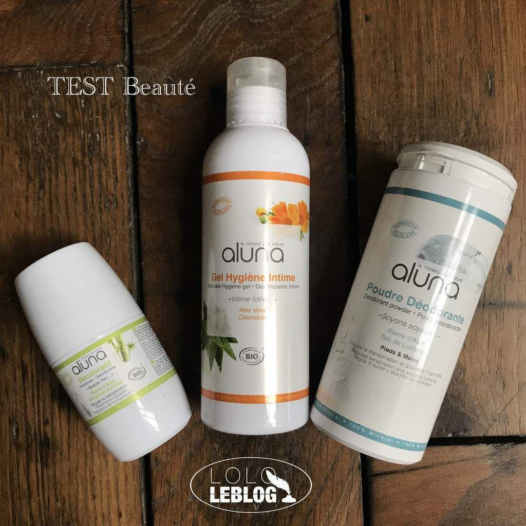 Mes 3 produits de soins ALUNA