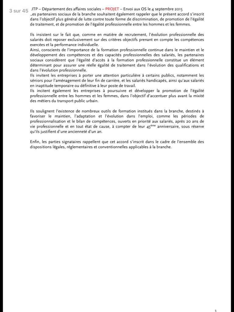 Négociation sur la formation professionnelle dans les TU