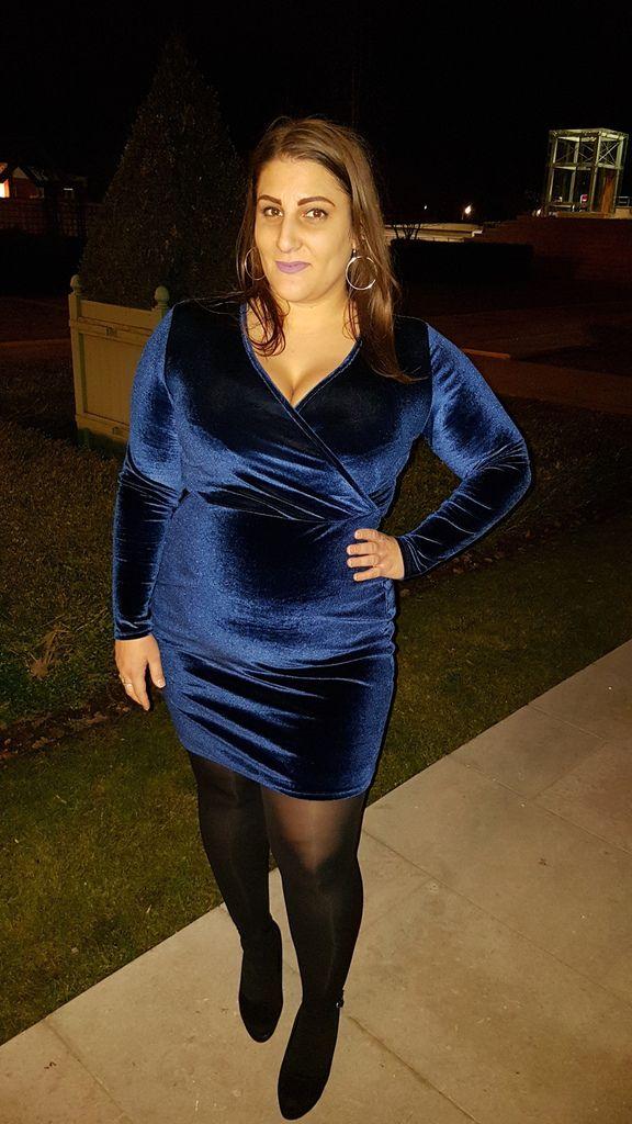 Blue Velvet Dress - French Curves Challenge