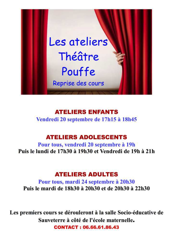 C'est la rentrée du théâtre Pouffe !