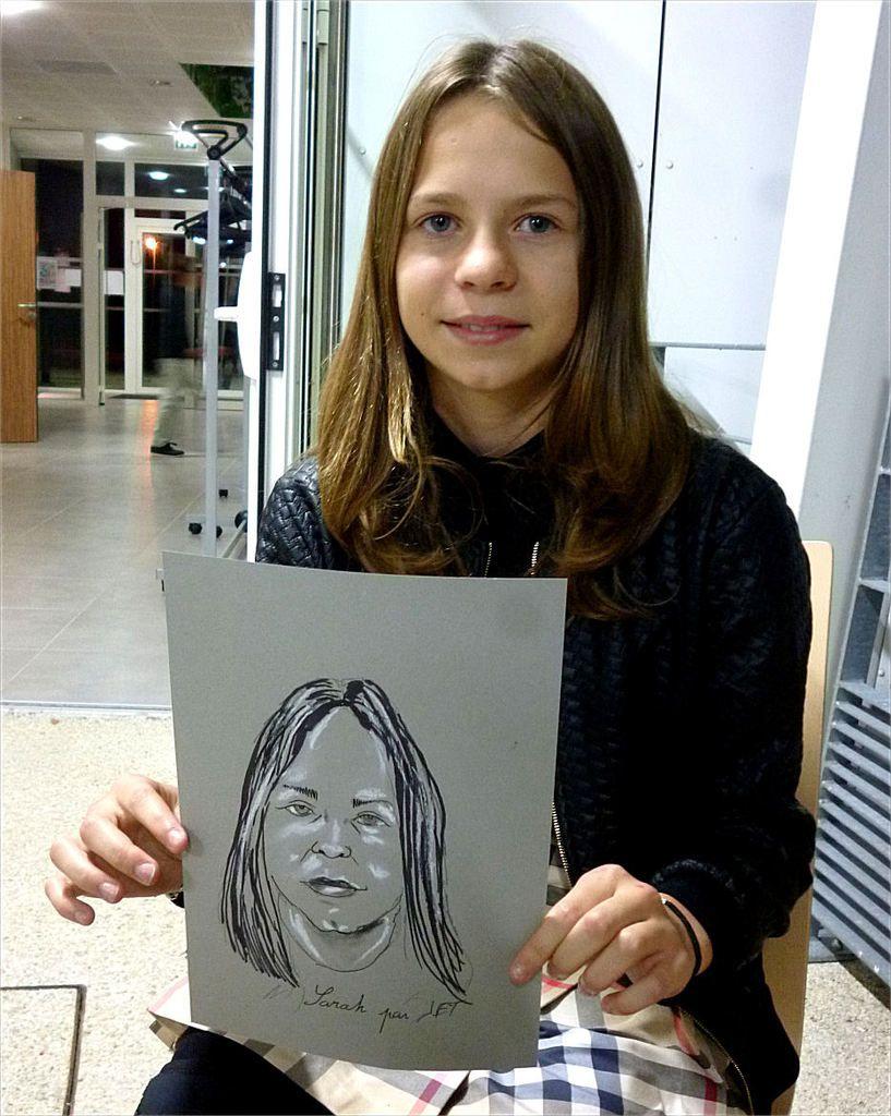 Sarah caricature de JEF