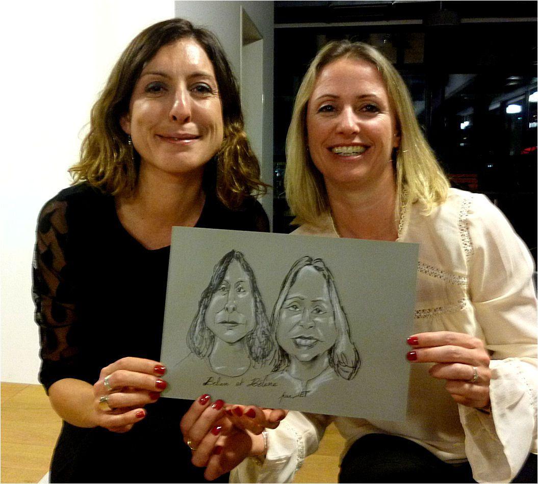 Belen et Hélène caricature par JEF
