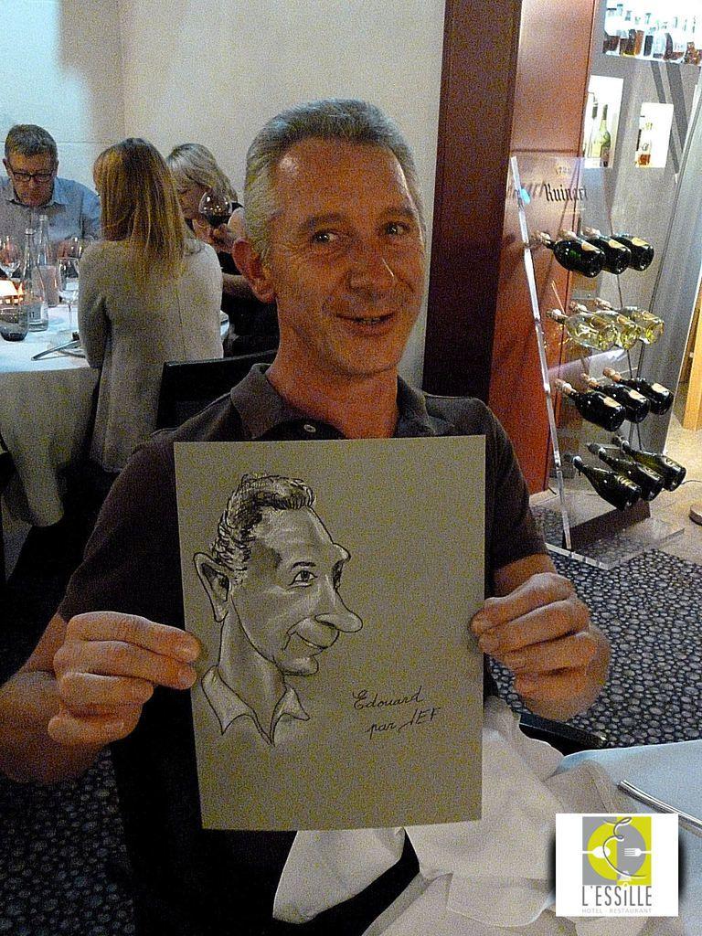 Edouard viticulteur au domaine de Garancille caricature de JEF