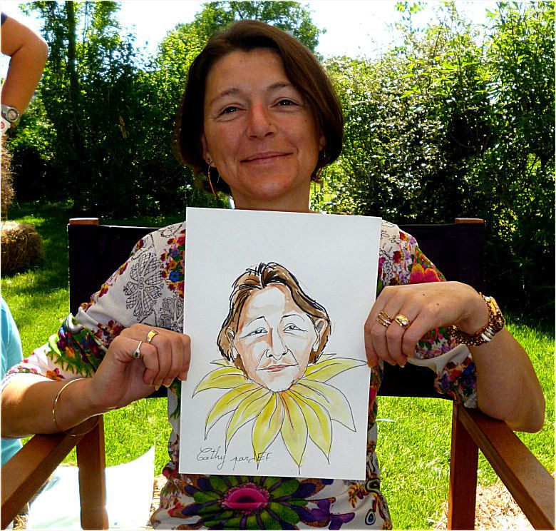 Cathy caricature Jef