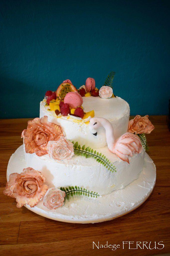Gâteau anniversaire Flamant rose