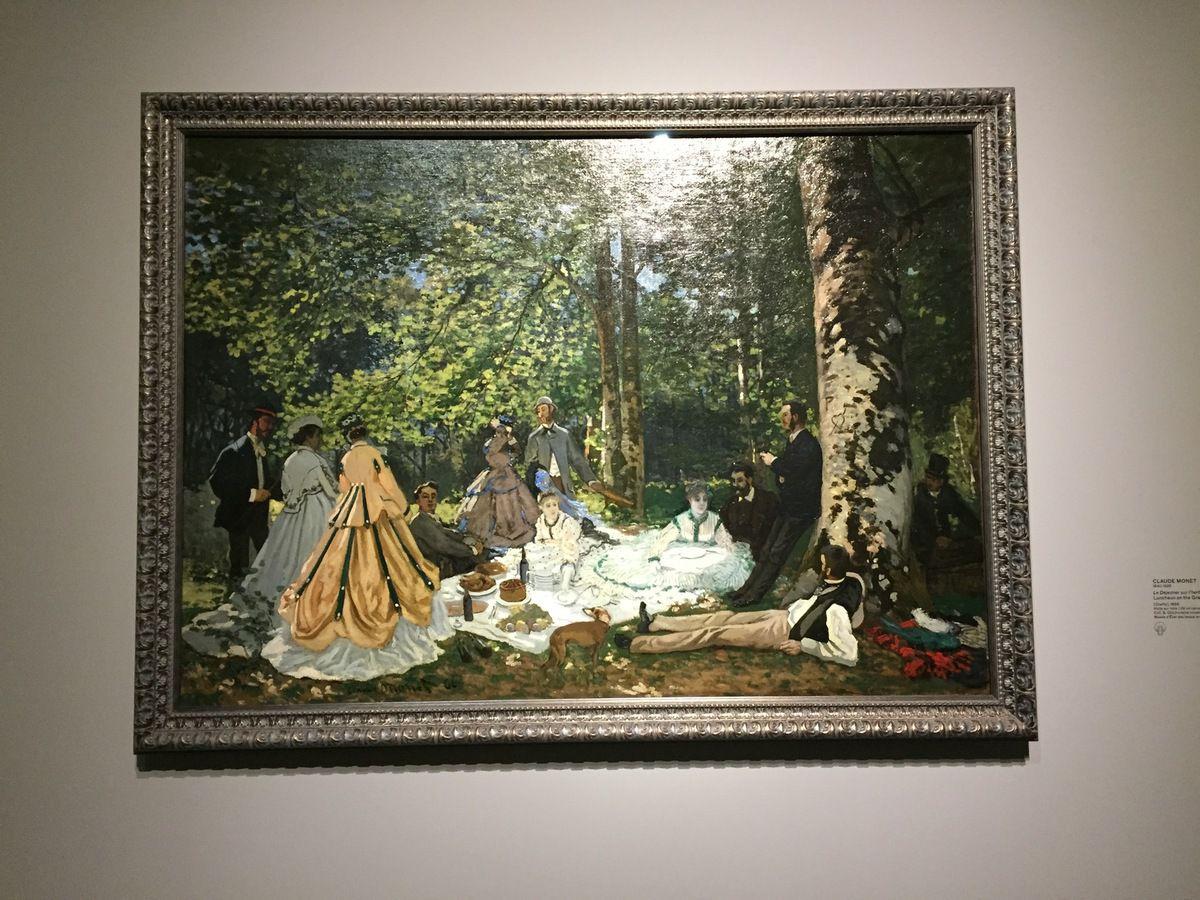 Le déjeuner dans l'herbe Monet