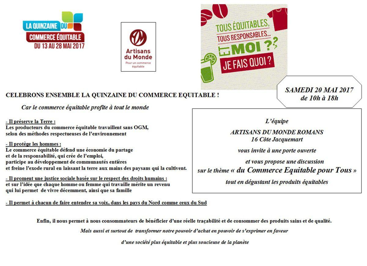a1d986c139a8 Quinzaine du COMMERCE ÉQUITABLE Artisans du Monde Romans ...