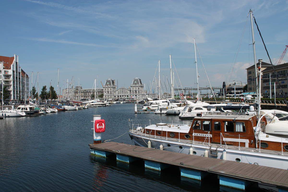 der Yachthafen in Oostende