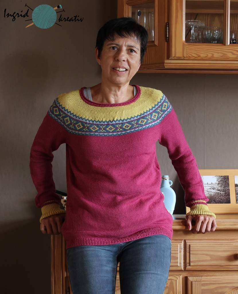 Elementary sweater pullover colorwork Isabell krämer