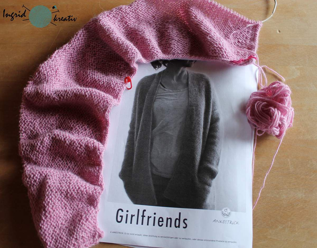 Girlfriends Cardigan Ankestrick Drops-Alpaka