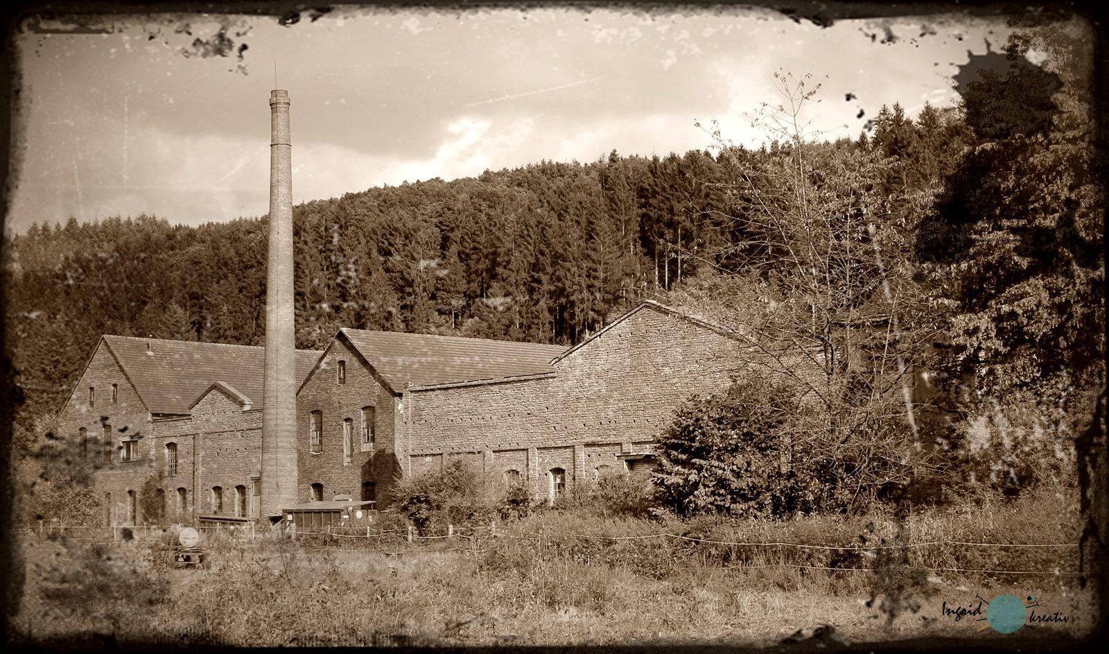 alte Fabrik im Kylltal  usch eifel Industriedenkmal